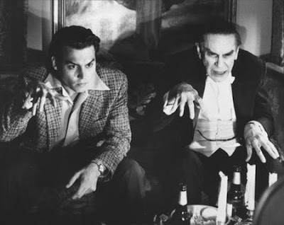 Johnny Deep y Martin Landau en Ed Wood (1994)