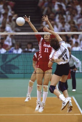 Atlanta 1996 - Voleibol femenino, Cuartos de final entre China y Alemania