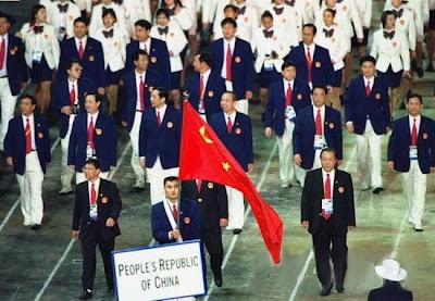 Sydney 2000 - China desfilando en la ceremonia inagural