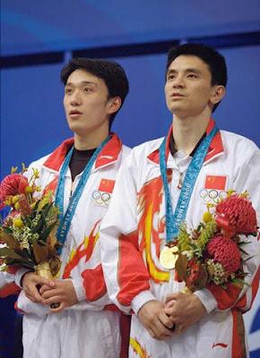 Sydney 2000 - Xiong Ni y Xiao Hailiang, campeones en saltos de trampolín sincronizados