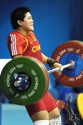 Atenas 2004 - Liu Chunhong, oro en halterofilia (-69 kg femenino)