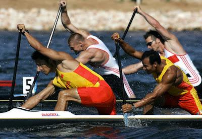 Atenas 2004 - Meng Guanliang y Yang Wenjun, oro en C2 500 metros de piraguismo