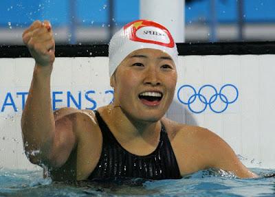 Atenas 2004 -  Luo Xuejuan, campeona en 100 metros braza