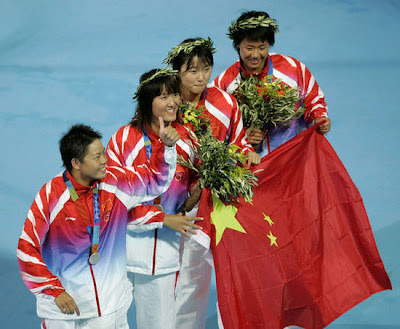Atenas 2004 - China, medalla de plata en relevos 4 x 200 metros libres