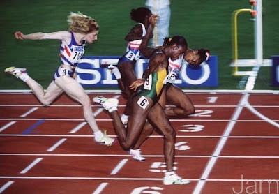 Stuttgart 1993 - Gail Devers y Merlene Ottey