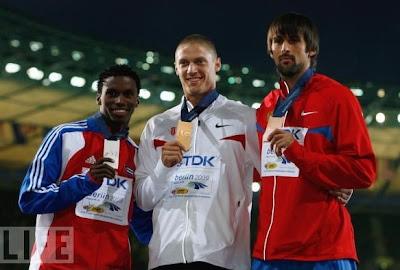 Leonel Suárez, Trey Hardee y Aleksandr Pogorelov