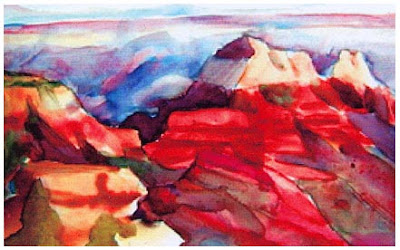 Acuarela del Cañón del Colorado, Everett Ruess