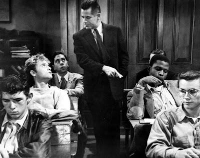 Glenn Ford y Sidney Poitier en Semilla de maldad (1955)