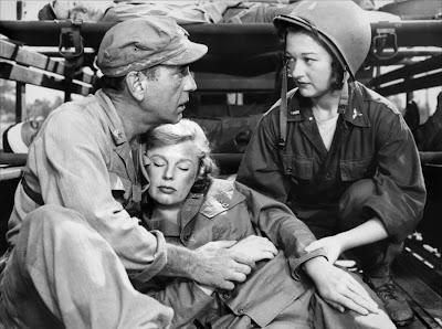 Humphrey Bogart, June Allyson y Perry Sheehan en Campo de batalla (1953)