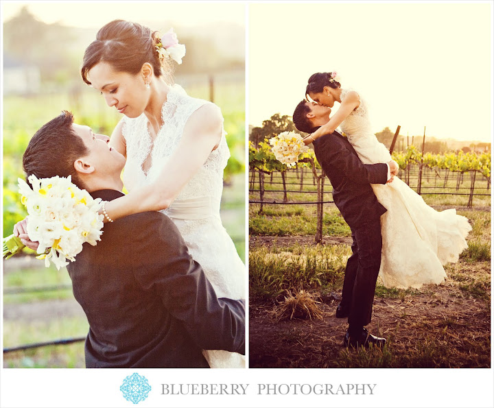 classic vineyard wedding portraits