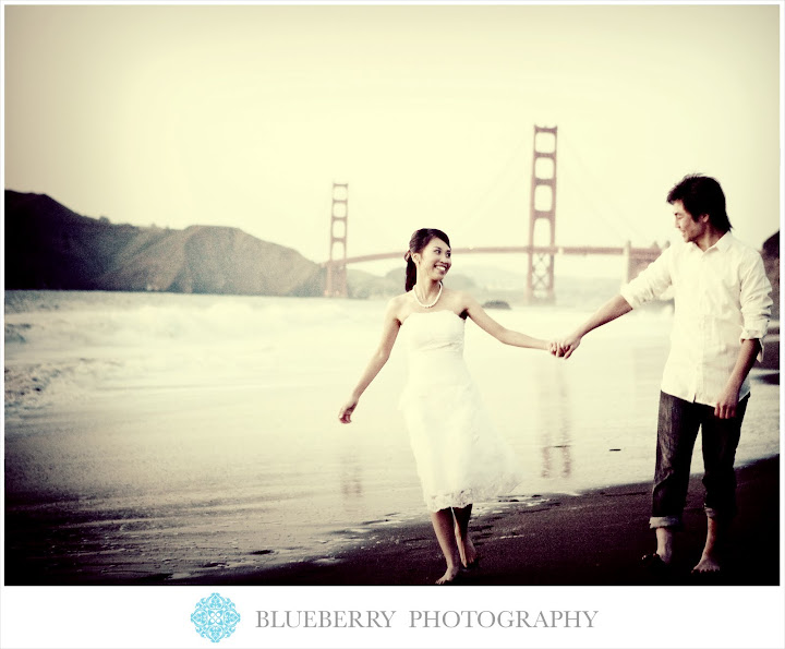 san francisco golden gate bridge baker beach engagement portraits