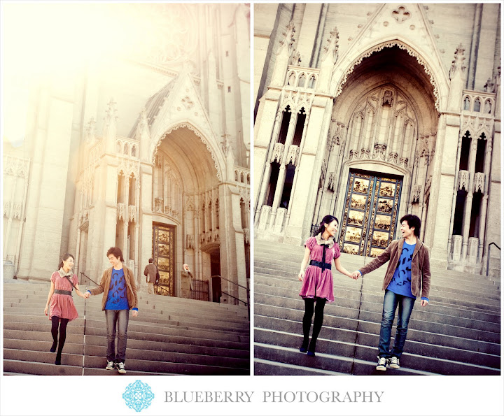 San francisco grace cathedral engagement photographer