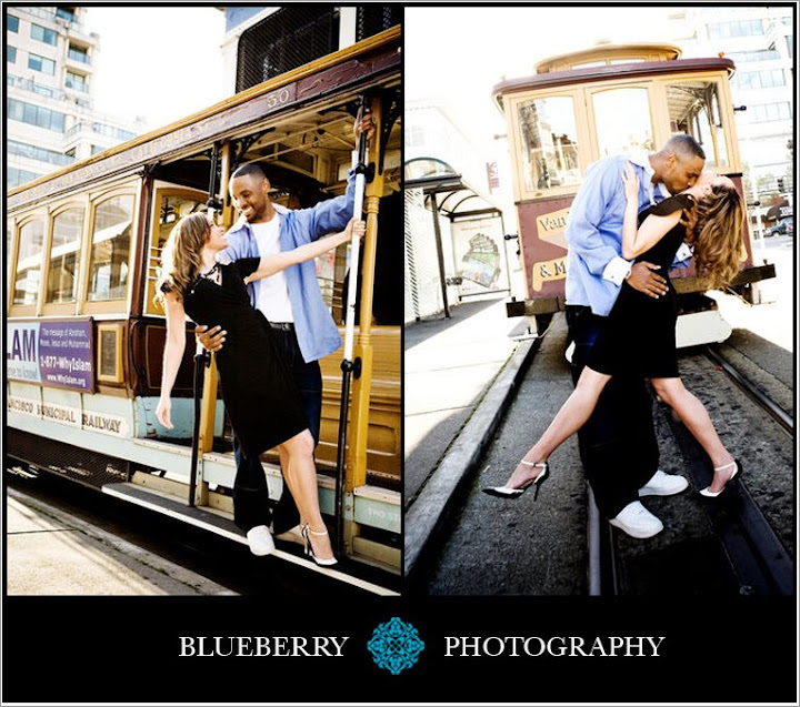 wedding photography engagement session cable car san francisco