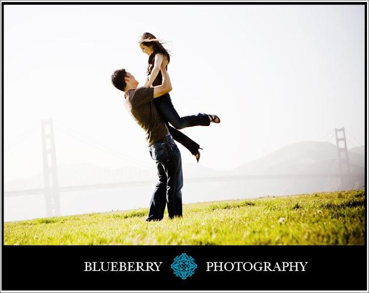 San Francisco pier engagement session