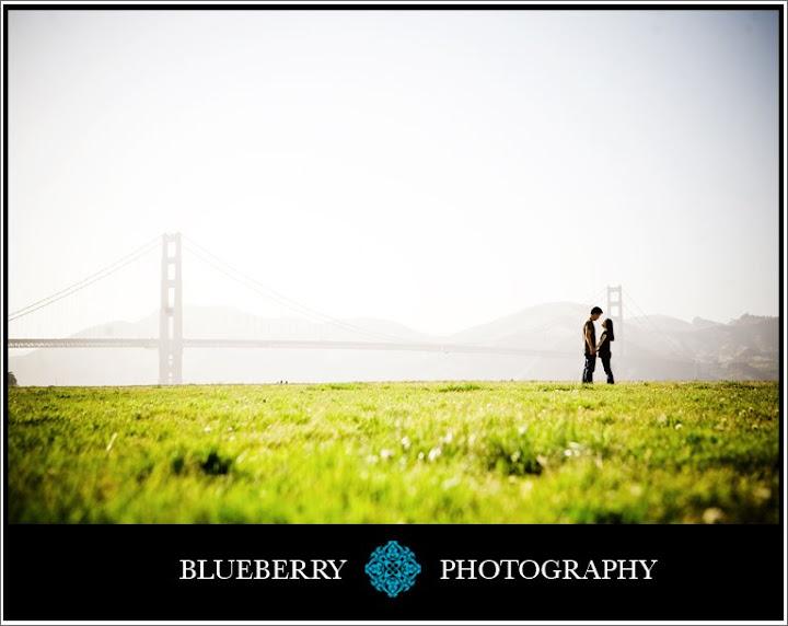 San Francisco golden gate bridge engagement session