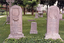 Keats's headstone on the left Joseph Severn's on the right