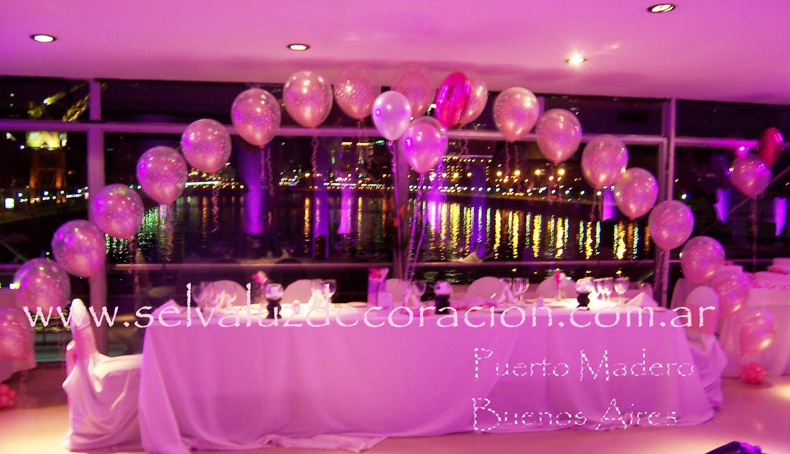 Decoraci n de sal n para 15 a os con globos imagui for Salones decorados para 15