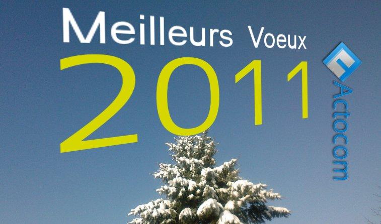 actocom souhaite les meilleurs voeux Bonne année