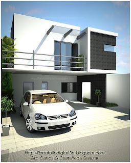 Proyectos arquitectonicos y dise o 3 d casa minimalista for Proyectos casas minimalistas