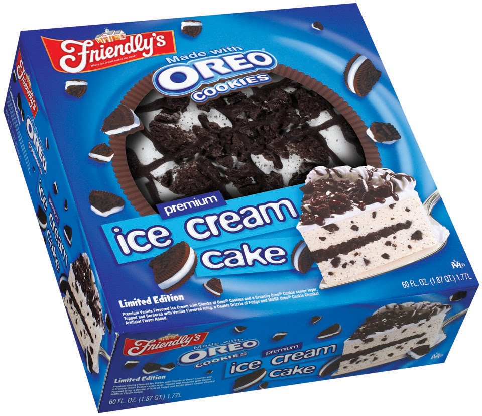 The Frozen Food Guy: Cookie-licious! Friendly's Oreo Ice Cream Cake