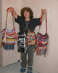 Me Displaying my 'Raggy Bags'