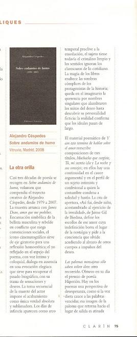 Reseña: Revista Clarin, por José Luis Morante