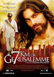 LOCANDINA DEL FILM BLASFEMO 7 KM DA GERUSALEMME