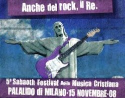 IL POSTER BLASFEMO GESU' RE DEL ROCK