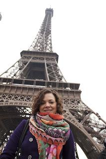 Eifle Tower Paris, standing under the Eifle Tower Paris in Winter