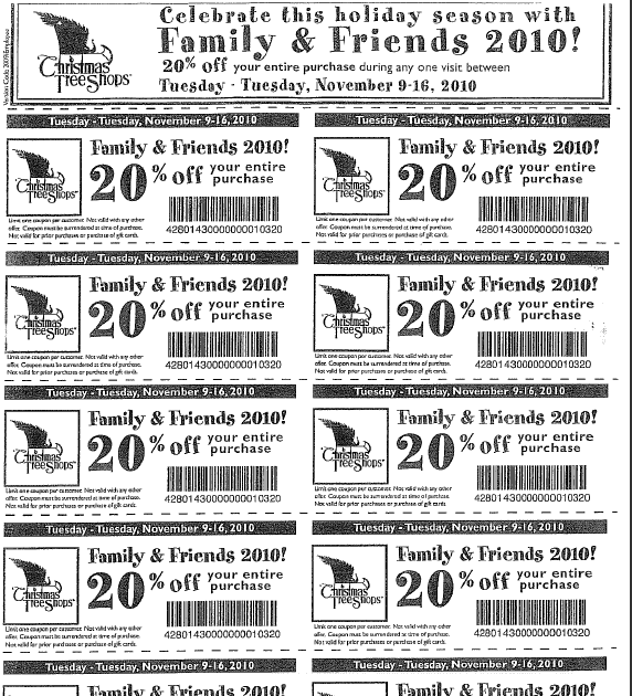 Cape Ann Foster Families: Friends & Family - Xmas Tree shop 20%
