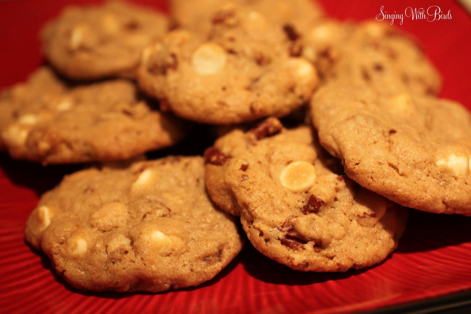 Maple Walnut White Chocolate Chip Cookies - Cheery Kitchen