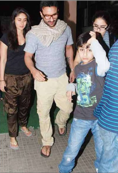 and Kareena Kapoor with Saif's son Ibrahim Ali Khan and daughter Sara ...