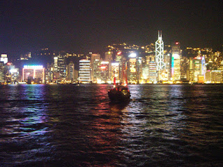 travel, Victoria Harbour by night