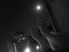 Bare feet and the moon