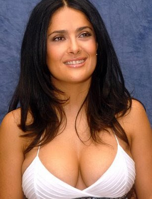 SALMA HAYEK SEXY BOOBS IN RED BIKINI