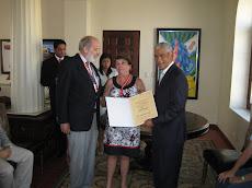 Entrega Diploma Amaya Ruiz de México