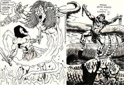 desenho Conan bárbaro, intercâmbio hiboriano