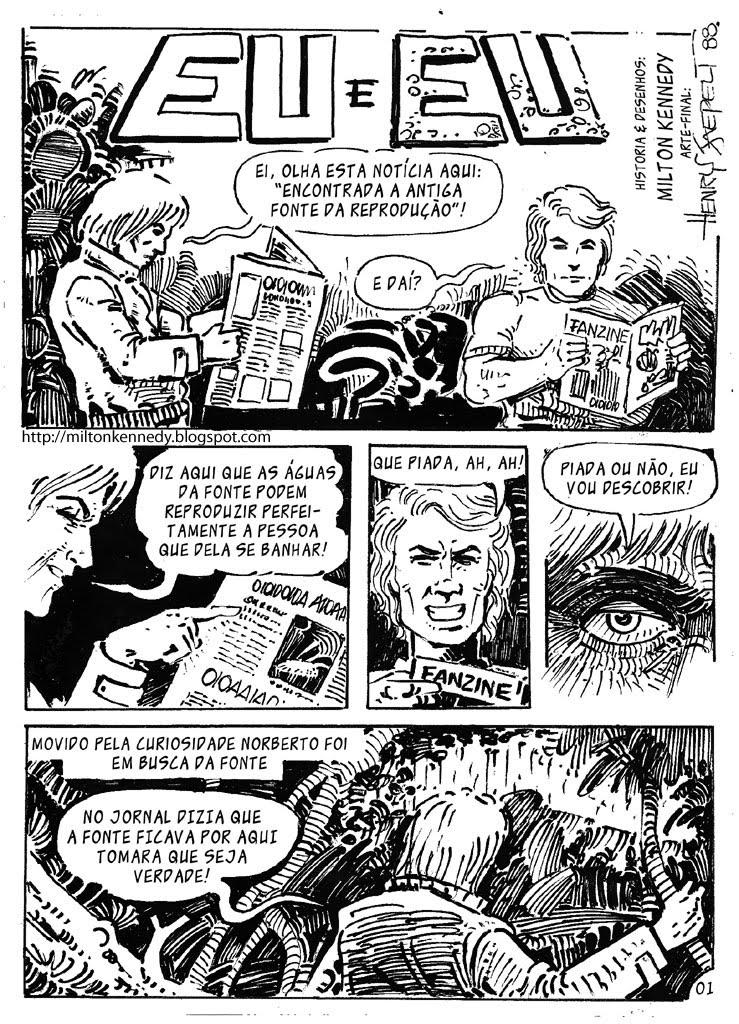 Fanzine desenhos quadrinhos Henry Jaepelt e Milton Kennedy