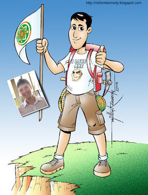 Caricatura de Diego Munhoz Ferreira por Milton Kennedy