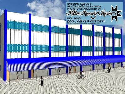 Unifenas BH Campus 2, projeto Milton Kennedy revitalização fachada
