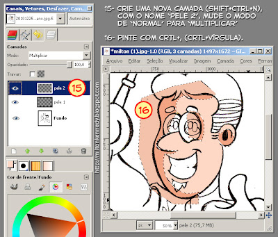 Tutorial Colorindo desenhos com o Gimp