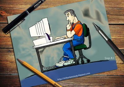 Caricatura de Milton Kennedy por Diego Ferreira
