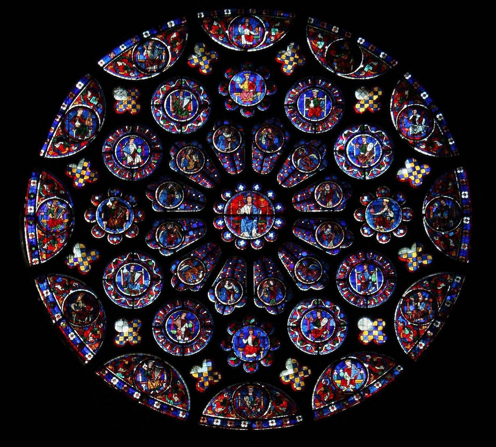 the trinity chartres cathedral the south rose window and lancet
