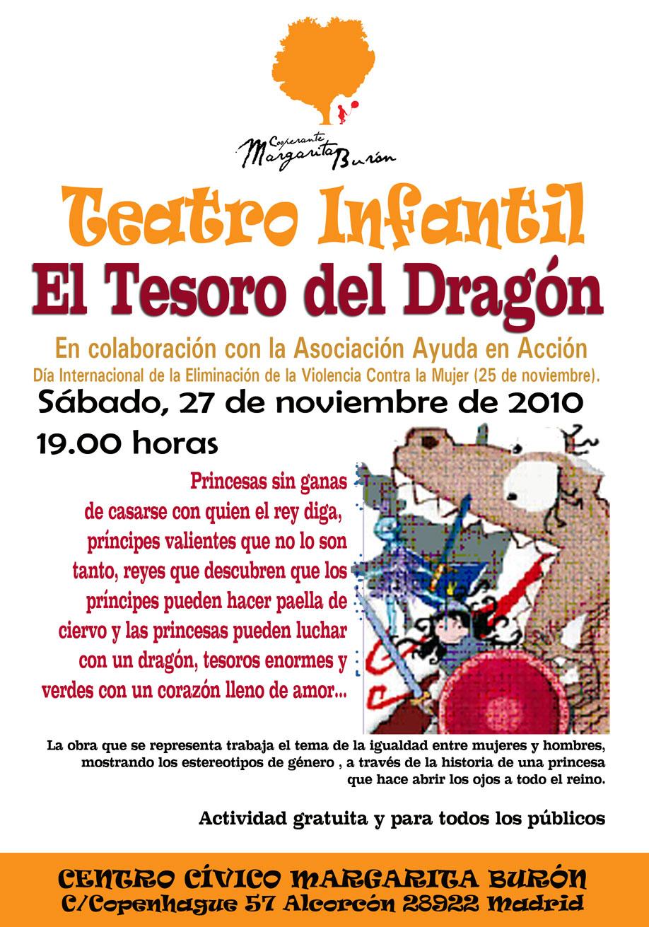 Teatro infantil el tesoro del dragon centro cultural cooperante margarita bur n - Teatro en alcorcon ...