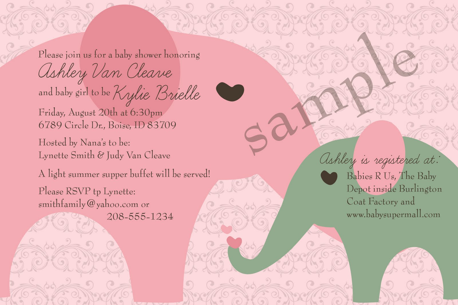 examples of baby shower invitations images frompo