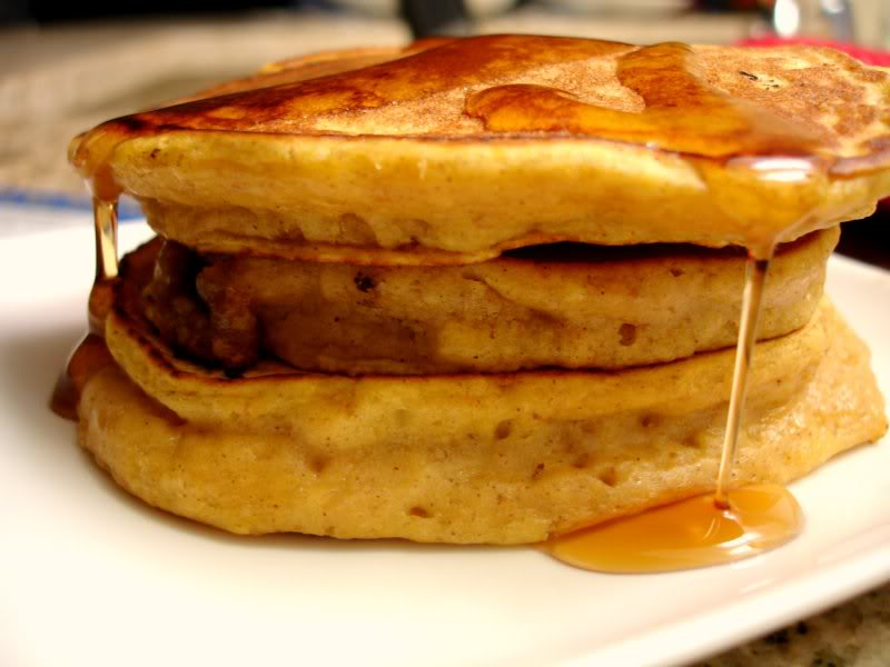 is a moist airy pancake that tastes like a pumpkin pie in pancake form ...
