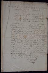 English Civil War legal document