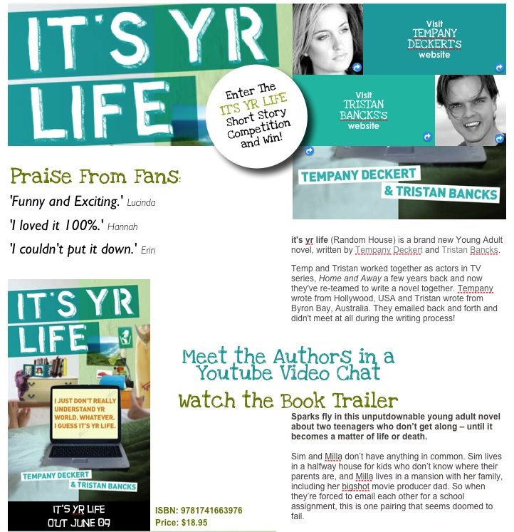 it's yr life IM / Email Writing Competition