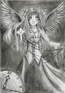 rysunki - anioł mangowy