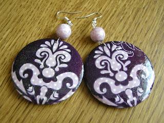 fioletowy ornament (kolczyki)